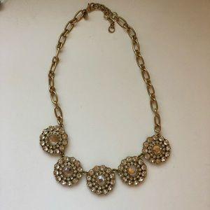 J Crew never worn crystal statement necklace
